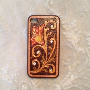 Western Tooled Floral iPhone 4/4S
